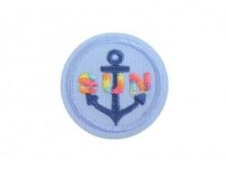 """Ecusson thermocollant Ancre marine """"Sun"""""""