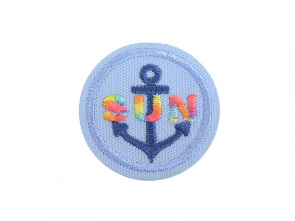 "Iron-on patch - Anchor/""Sun"""