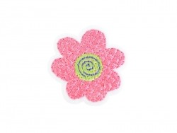 Ecusson thermocollant Fleur rose