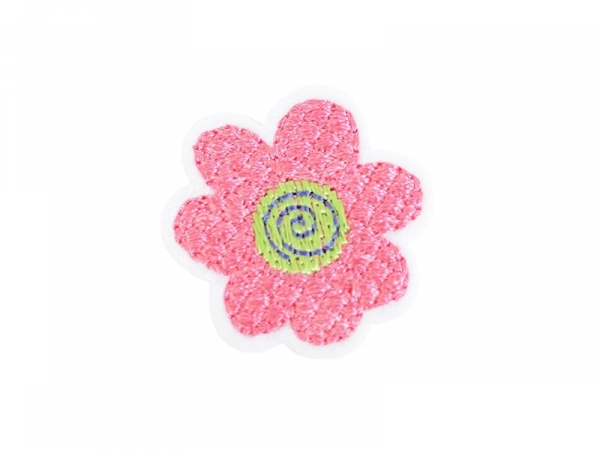 Iron-on patch - Pink flower