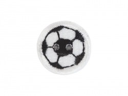 Ecusson thermocollant bouton Ballon de foot Mediac - 1