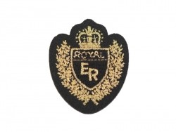 "Ecusson thermocollant Blason ""Royal ER"""