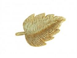 Ecusson thermocollant Feuille dorée