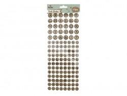 Round cork stickers - alphabet
