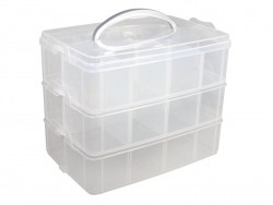 Storage box with a handle