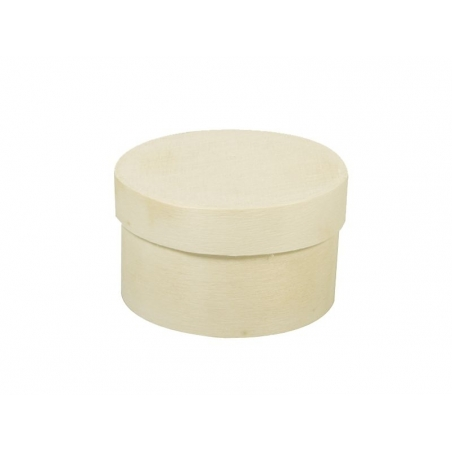 Round wooden box - mini