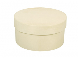 Boîte ronde en copeaux - moyen