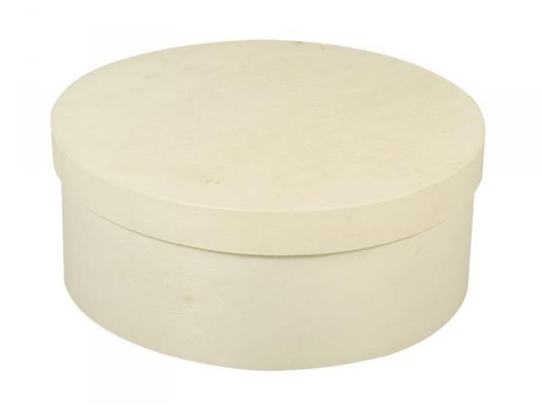 Round wooden box - large