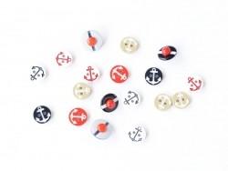 Acheter 1 Bouton Ancre marine rouge sur fond blanc - 0,29€ en ligne sur La Petite Epicerie - 100% Loisirs créatifs