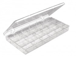 Storage box with 18 compartments