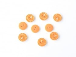 1 round teddy-printed button (12 mm) - Orange