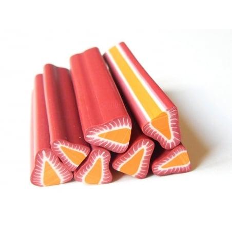 Acheter Cane fraise coeur orange gros diamètre - 1,39€ en ligne sur La Petite Epicerie - Loisirs créatifs