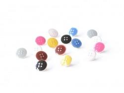 1 Bouton plastique 11 mm - Gris