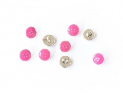 1 plastic button (11 mm) - Fuchsia