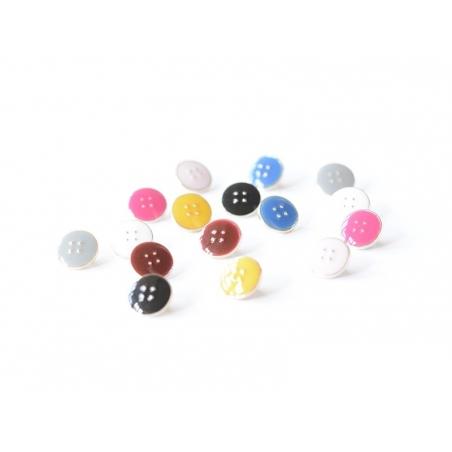 1 Bouton plastique 11 mm - Rose fushia