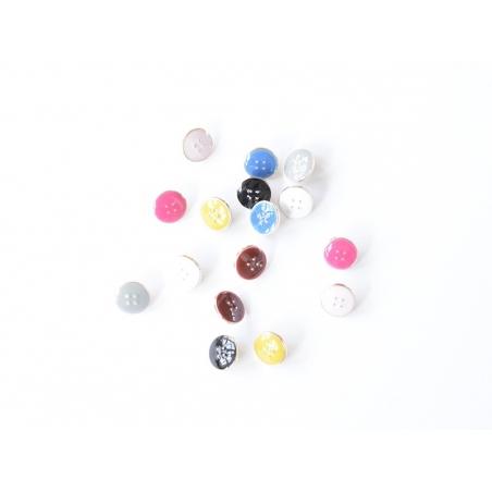 1 Bouton plastique 11 mm - Jaune