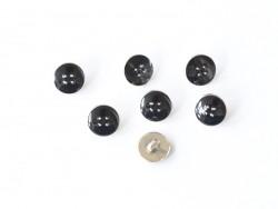 1 Bouton plastique 11 mm - Noir Mediac - 1