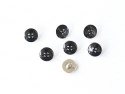 1 plastic button (11 cm) - Black