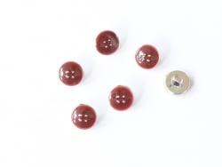 1 Plastikknopf (11 mm) - Weinrot