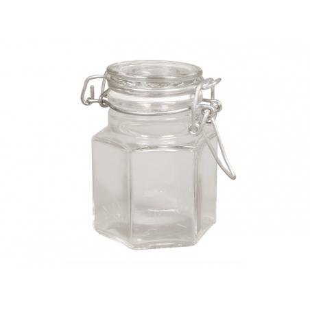 Petit bocal en verre avec couvercle