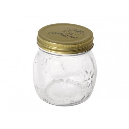 Petit bocal en verre avec couvercle à vis