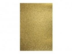 feuille épaisse à paillettes - doré