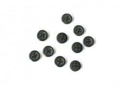 Bouton plastique 4 trous 8 mm - Vert sapin