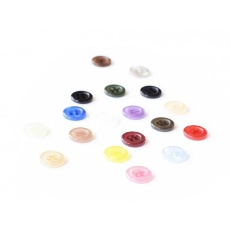 Plastic button (11 mm) with 4 buttonholes - Sky blue