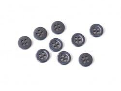 Bouton plastique 4 trous 11 mm - Bleu saphir