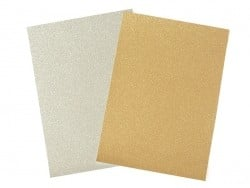 Thick sheet of glitter paper - gold-coloured