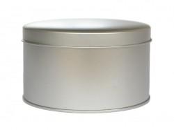 Round metal tin (11 cm x 6 cm)