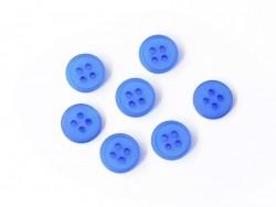 Bouton plastique 4 trous 15 mm - Bleu ciel