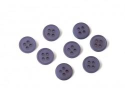 Plastic button (15 mm) with 4 buttonholes - Violet