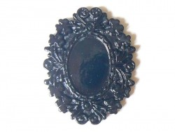 Black cabochon base