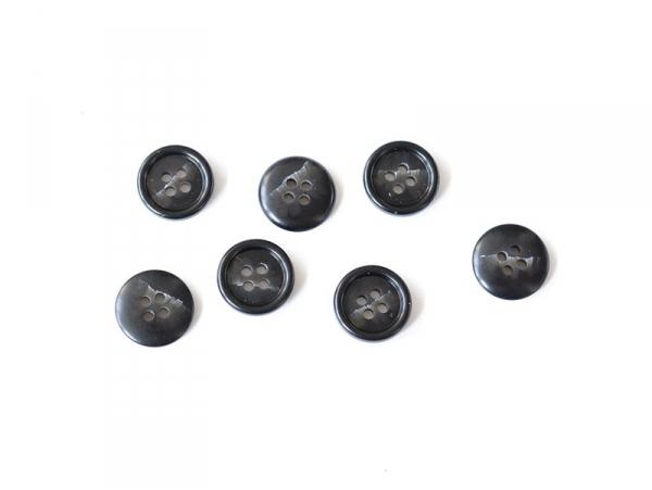 Bouton plastique 4 trous 15 mm marbr noir et blanc la petite picerie - Marbre noir et blanc ...