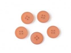 Bouton plastique 4 trous 20 mm - Orange foncé
