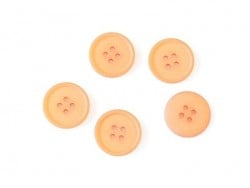 Plastic button (20 mm) with 4 buttonholes - Orange
