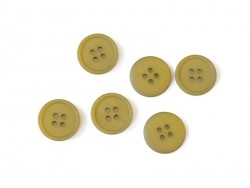 Plastic button (20 mm) with 4 buttonholes - Khaki