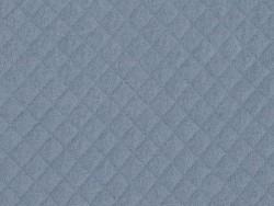 Gesteppter Jerseystoff - Blau