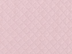 Quilted jersey fabric - Pink