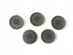 Plastic button (20 mm) with 4 buttonholes - Fir green