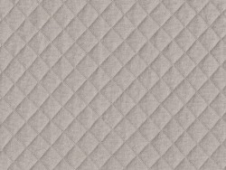 Quilted jersey fabric - Taupe