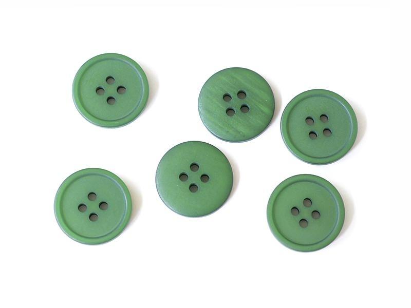 Bouton plastique 4 trous 20 mm - Vert bouteille Mediac - 1