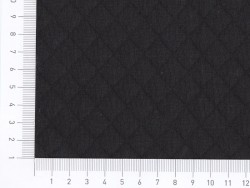 Quilted jersey fabric - Black