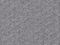 Gesteppter Jerseystoff - Grau
