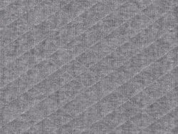 Quilted jersey fabric - Grey