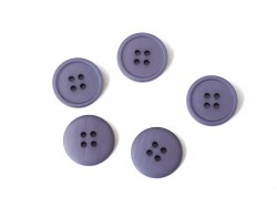 Plastic button (20 mm) with 4 buttonholes - Violet