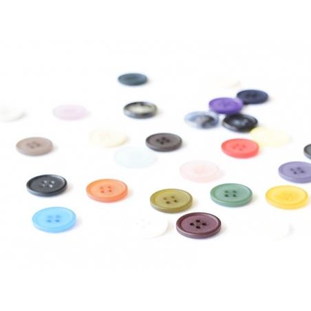 Bouton plastique 4 trous 20 mm - Violet