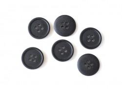 Bouton plastique 4 trous 20 mm - Noir
