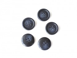 Bouton plastique 4 trous 20 mm - Marbré noir et blanc